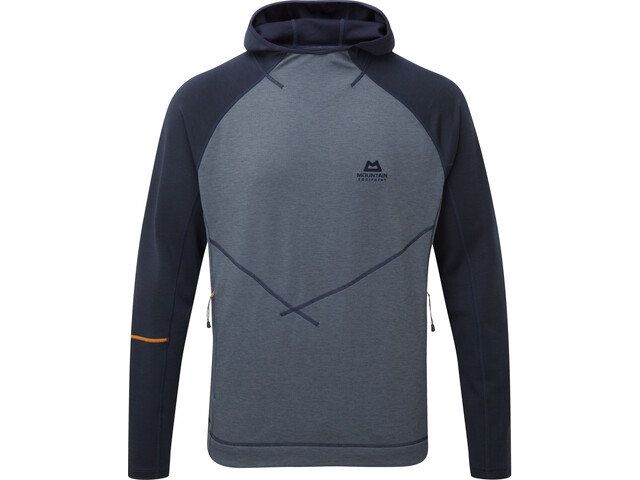 Mountain Equipment Clarion Sweat à capuche Homme, ombre blue/cosmos
